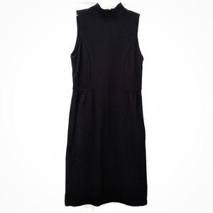 Banana Republic Black Stretch Sheath Dress sz 6